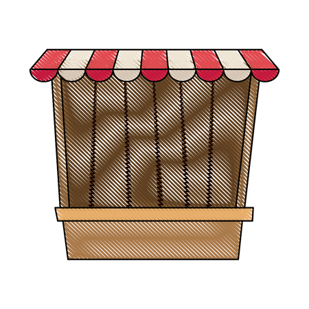 retail equipment: carnival fair booth game exterior image vector illustration