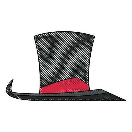 host: vintage top hat accessory host carnival vector illustration Illustration