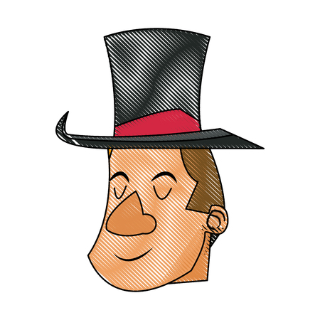 stage costume: character man host circus show image vector illustration