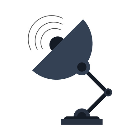 tv tower: satellite dish telecommunications related icon image vector illustration design