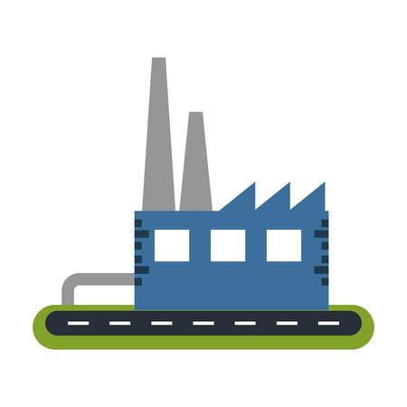 factory building icon image vector illustration design Illustration