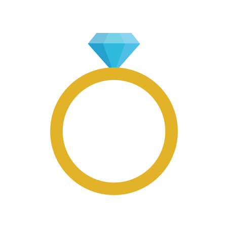 ring with diamond engagement icon image vector illustration design Stock fotó - 78819531