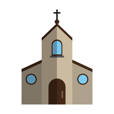 cristian or catholic church chapel icon image vector illustration design Illustration