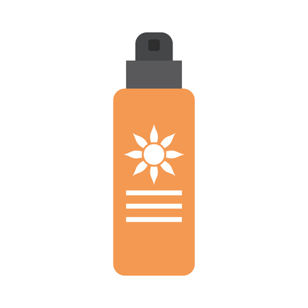 sunscreen bottle icon image vector illustration design