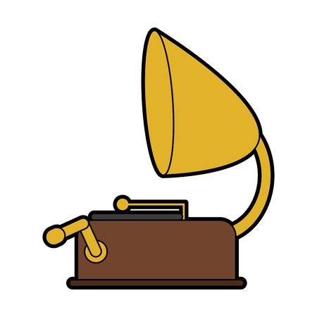 vintage gramophone icon image vector illustration design Illustration