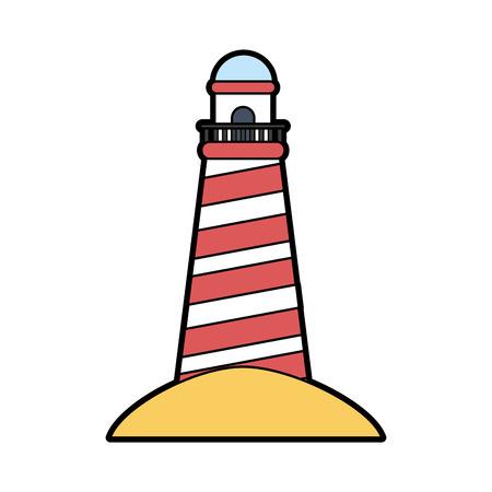 striped lighthouse icon image vector illustration design Illustration