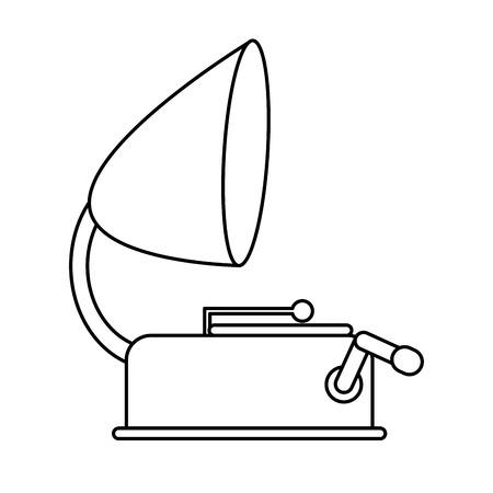 restored: vintage gramophone icon image vector illustration design Illustration