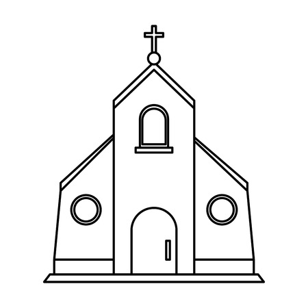 cristian or catholic church chapel icon image vector illustration design Ilustração