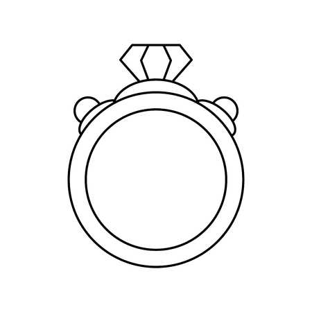 ring with diamond engagement icon image vector illustration design