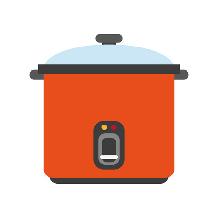 work from home: rice cooker appliance icon image vector illustration design