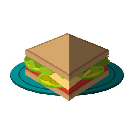 fiambres: icono de comida rápida ilustración imagen vectorial diseño de bocadillo