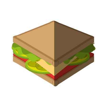 icono de comida rápida ilustración imagen vectorial diseño de bocadillo