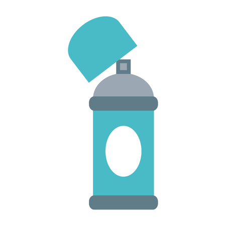 tin packaging: aerosol can blank label icon image vector illustration design
