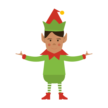 elf or santas helper christmas character icon image vector illustration design Illustration