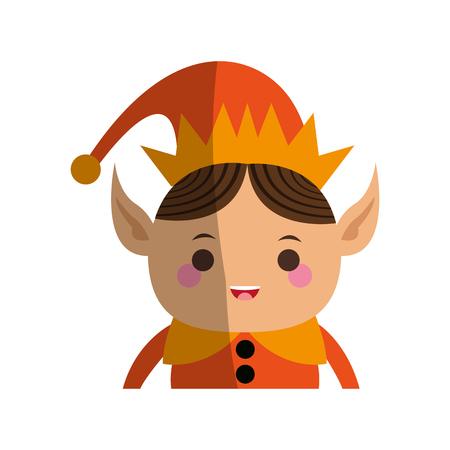 elves: elf or santas helper christmas character icon image vector illustration design Illustration