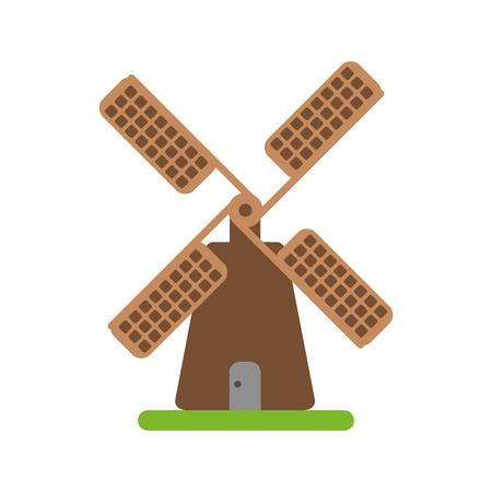 farmhouse windmill icon image vector illustration design Illustration