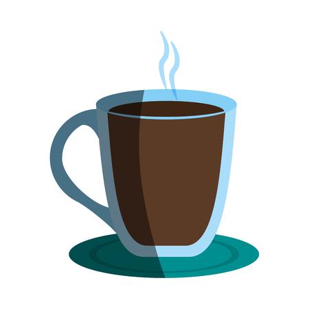 coffee beverage in mug icon image vector illustration design