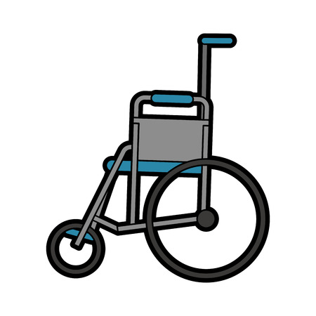 insured: wheelchair healthcare related icon image vector illustration design