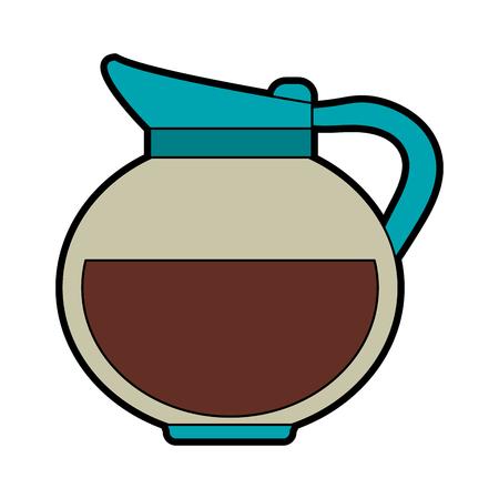 coffee beans: kettle coffee beverage icon image vector illustration design Illustration