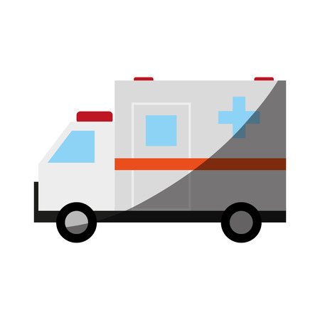 insured: ambulance healthcare related icon image vector illustration design