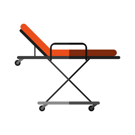 insured: hospital bed or gurney healthcare related icon image vector illustration design
