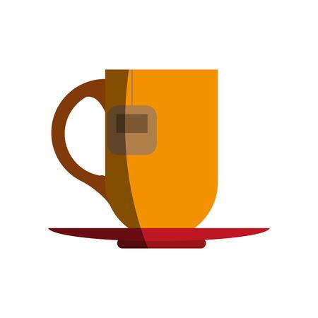 mug with tea bag icon image vector illustration design