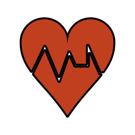heart cardiogram icon image vector illustration design Illustration