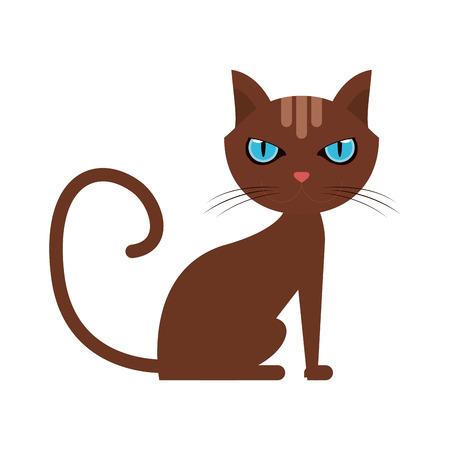 cat house pet icon image vector illustration design Illustration