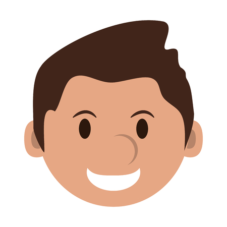 head of happy man character icon image vector illustration design Illustration