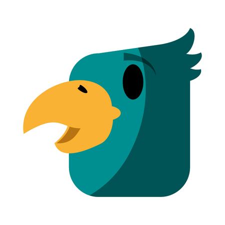 drift: tropical bird icon image vector illustration design