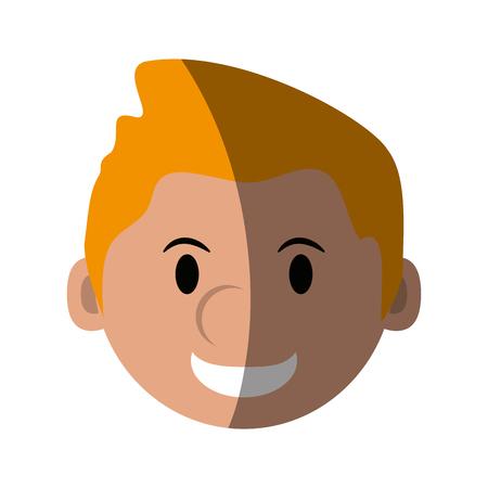 head of happy man character icon image vector illustration design Illustration