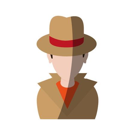 Spion oder Ermittler Avatar Icon Bild Vektor-Illustration Design Standard-Bild - 78841200