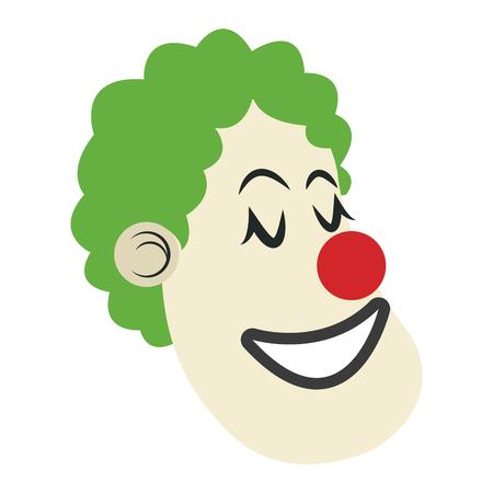 stage makeup: Poster festival funfair clown man show vector illustration