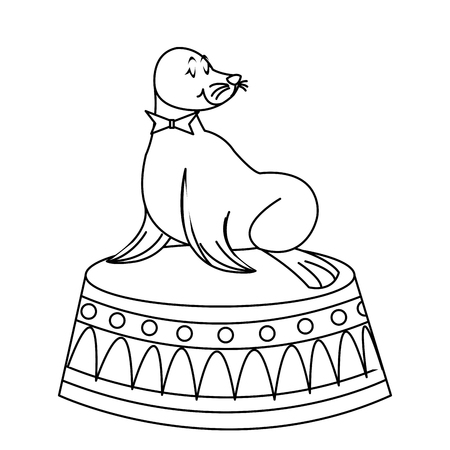 Sealion cartoon animal icon vector illustration graphic design Illustration