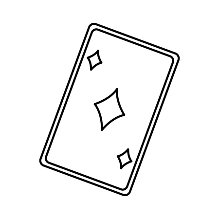 straight flush: playing ace card poker icon. casino betting leisure outline vector illustration