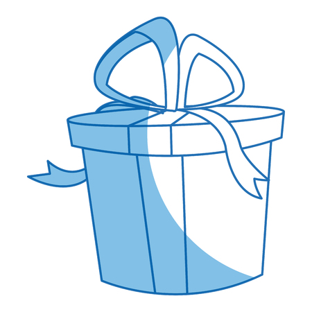 gift box icon, christmas present wrapped with a bow vector illustration Illustration