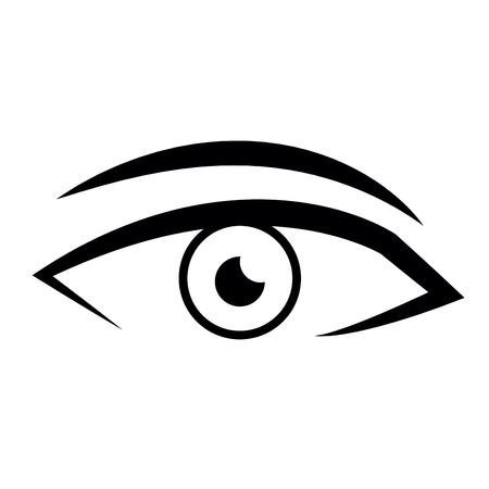 male eye view look vision image vector illustration