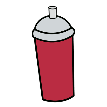 paint can: Aerosol graffiti paint spray. Stree art concept. Graffiti spray paint. Sticker. Banner.Vector Illustration. Graffiti style.