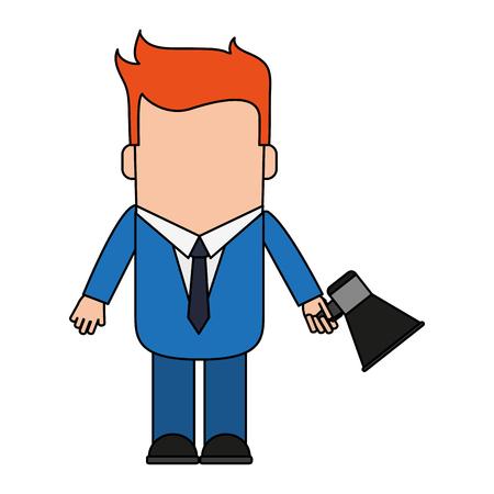 Cartoon man profile icon vector illustration graphic design