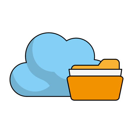 data archiving: Find archiving cloud icon illustration vector design graphic Illustration