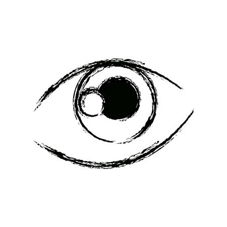 graffiti eye expression vision draw image vector illustration Illustration