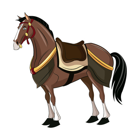 oriental vector: horse of samurai animal warhorse oriental vector illustration,