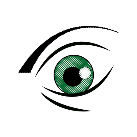 graffiti eye expression vision draw image vector illustration Illustration