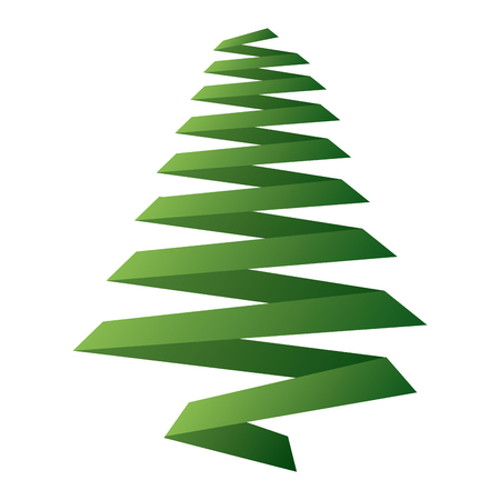 pine tree ribbon shape christmas decoration image vector rh 123rf com vector pine tree silhouettes vector pine tree illustration