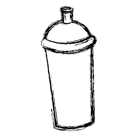 paint can: spray paint can graffiti tool icon vector illustration