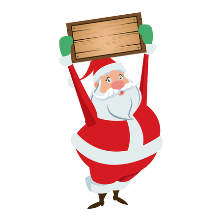 cartoon santa claus for your christmas and new year greeting vector illustration Illustration