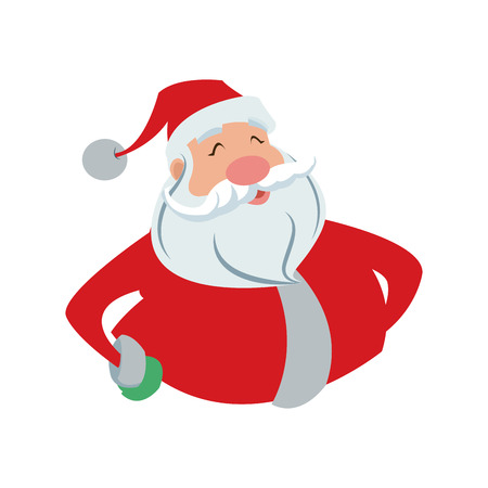 character cartoon: cartoon santa claus for your christmas and new year greeting vector illustration Illustration