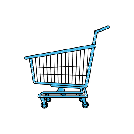 troley: shopping cart full of shopping bags and gift boxes. vector illustration