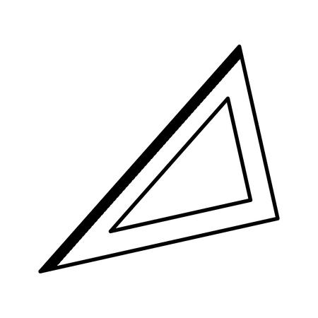 삼각형 눈금자 기하학 학교기구 벡터 일러스트 레이션