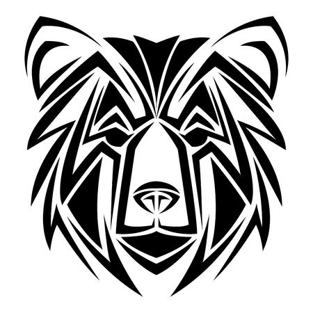 Bear tribal tattoo animal creativity design vector illustration